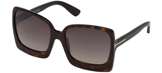 Sonnenbrillen Tom Ford KATRINE-02 FT 0617 BLACK/GREY SHADED Damenbrillen ZBJaDR
