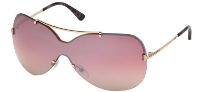 Authentic Tom Ford FT 0652 Ingrid 02 33Z Shiny Rose Gold Sunglasses