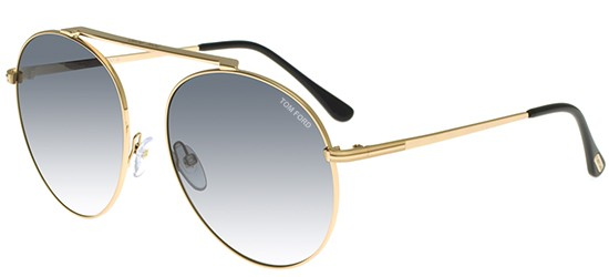 Tom Ford SIMONE-02 FT 0571 SHINY ROSE GOLD/GREY SHADED