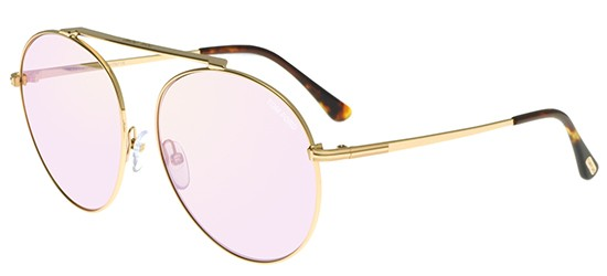Tom Ford SIMONE-02 FT 0571 SHINY ROSE GOLD/LIGHT BROWN PINK