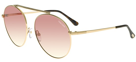 Tom Ford SIMONE-02 FT 0571 SHINY ROSE GOLD/PINK SHADED