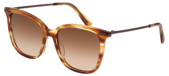 Bottega Veneta BV0028S STRIPED BROWN/BROWN SHADED