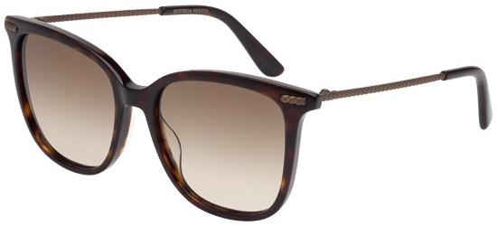 Bottega Veneta BV0028S DARK HAVANA/BROWN SHADED