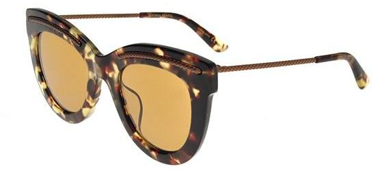 Bottega Veneta BV0030SA ASIAN FIT BLONDE HAVANA/ORANGE BROWN