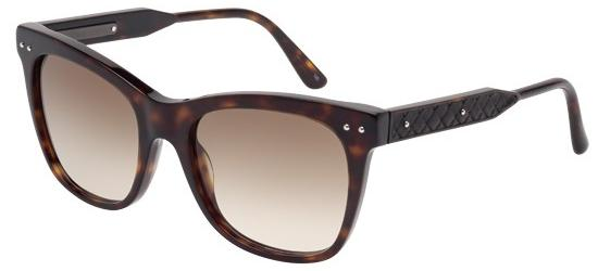 Bottega Veneta BV0034S DARK HAVANA/BROWN SHADED