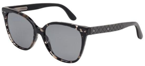 Bottega Veneta BV0044S DARK GREY HAVANA/SMOKE POLARIZED