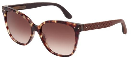 Bottega Veneta BV0044S HAVANA/BROWN SHADED