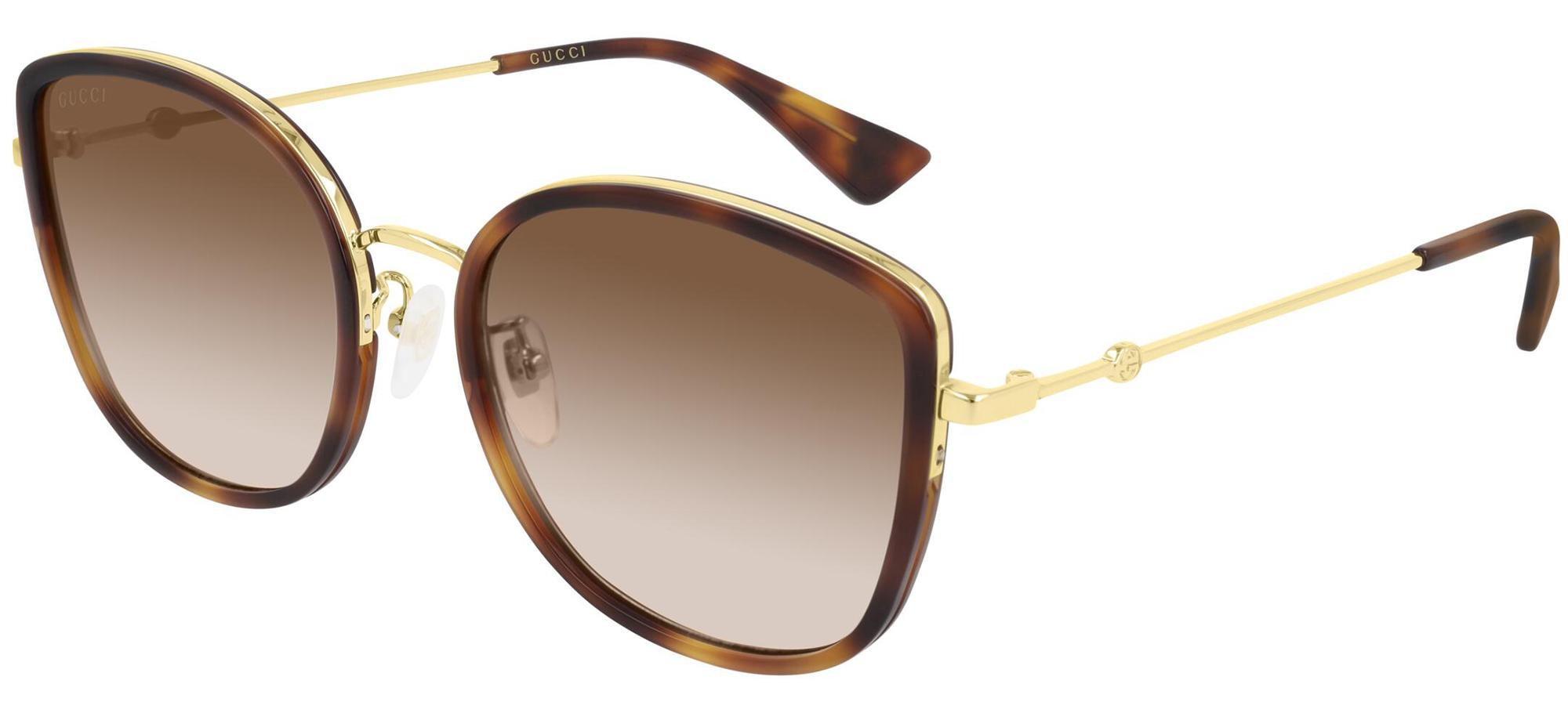 Sunglasses GUCCI original GG0606SK 004 56-19 Havana Gold