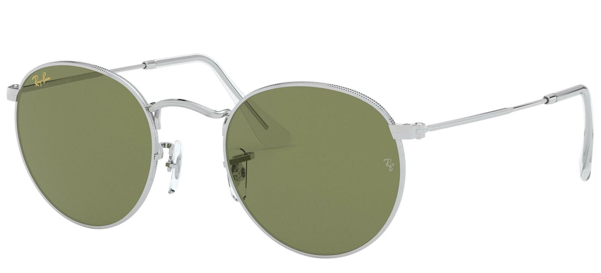 Ray-Ban 3447 Round Metal Prescription Sunglasses