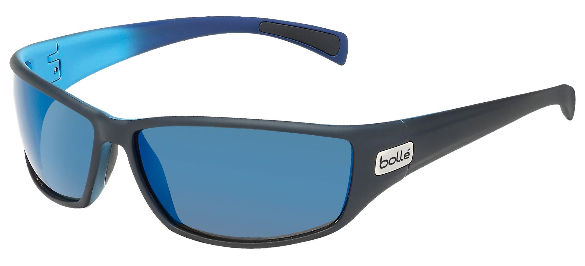 11672 Bolle Anaconda Sunglasses Matte Blue Frame w// Polarized TNS Gun Lens